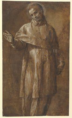 """Saint Charles Borromeo // 1575–1662 // Giovanni Battista Crespi (""""Il Cerano"""")"""