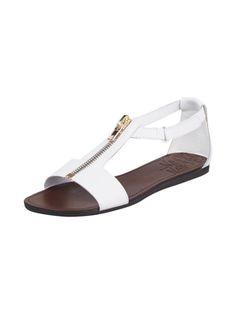 Sandalen aus Leder Weiß - 1