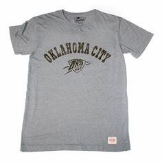 7671d9ff Oklahoma City Thunder Sportiqe short-sleeved T-shirt - Grey |  NBAThunderShop.com