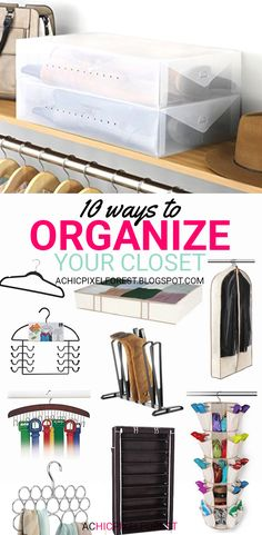 10 Ways To Organize Your Closet! 10 Ways To Organize Your Closet! Wardrobe Organisation, Closet Organization, Kitchen Organization, Organization Ideas, Linen Cabinets, Organizing Your Home, Stores, Getting Organized, Storage Solutions