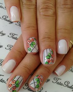 Easy Flowers Nail Art Designs - 100 pictures - Our Nail Super Cute Nails, Great Nails, Cute Nail Art, Fabulous Nails, Finger, Wow Nails, Flower Nail Art, Art Flowers, Cute Nail Designs