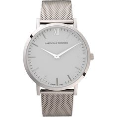 Larsson and Jennings Stainless Steel Chain Metal Watch (1,920 CNY) ❤ liked on Polyvore featuring jewelry, watches, chains jewelry, stainless steel watches, urban watches, polish jewelry and metal strap watches