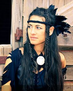 I found my picture pinned on another wall! They must have found it on my agentcostume.com web site.  It was a Black crow spirit costume for a wild west cowboys and Indians costume dress up party.