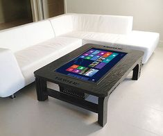 Touchscreen Computer Coffee Table #smarthome #hitech