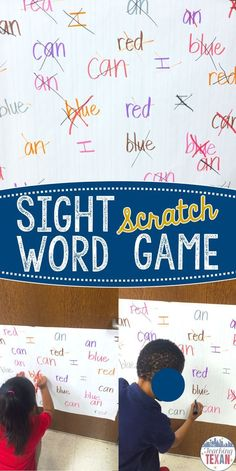 Sight words are an important building block in learning to read. We could all use fresh ideas and activities for practicing sight words like this fun game! Sight word scratch is perfect for Kindergarten, First Grade, and even Second Grade! by leona Teaching Sight Words, Sight Word Practice, First Grade Sight Words, Sight Word Song, Sight Word Wall, Vocabulary Practice, Kindergarten Literacy, Preschool Activities, Reading Games For Kindergarten