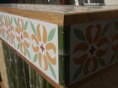 Moroccan tiles on as bar top - Alfreds hage #Moroccan #outdoor #tiles