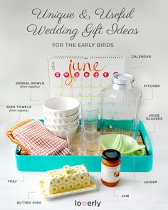 Creative wedding gift ideas for the early birds