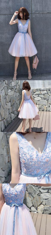V-neck Lace Homecoming Dresses,Elegant Homecoming Dresses,Short Prom Dresses for Homecoming 2017