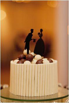 Love the silhouette cake topper!