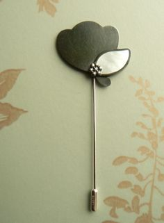 Pearly Leaf Pin, Oxidised Silver, Silver and Mother-of-Pearl, 2009