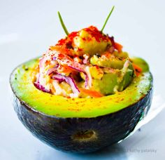 Deviled Avocados. Deliciously Devious. Sweet n Sassy.