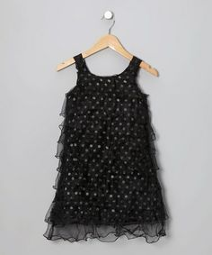 Pour Mimi!      Take a look at this Black Sequence Dress - Girls by Lipstik Girls on #zulily today!