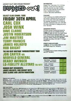 Flyer for Bugged Out @ Nation, Liverpool Clubbing Flyers
