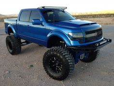 "The 2010 Ford F-150 ""Enkore"" sits on top of an 18"" lift with 46"" Baja Claw tires"
