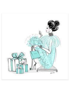 Tiffany Art, Tiffany And Co, Tiffany Blue, Megan Hess Illustration, Illustration Art, Tiffany Wedding, Celtic Wedding, Fashion Wall Art, Birthday Pictures