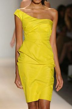 Gorgeous yellow sheath dress
