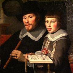 https://flic.kr/p/agu2s4 | Father and son | Portrait of the Van der Dussen family by Henrick Cornelisz. van Vliet, Delft, 1640 (detail).  Michiel van der Dussen (1600-1683) was a member of a prominent Delft.  He married Willemina van Setten in 1625. Museum Prinsenhof, Delft, The Netherlands.