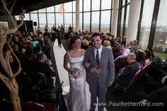 wedding couple aerie restaurant ceremony at grand traverse resort and spa photo by http://www.paulretherford.com