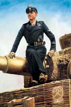 Hauptsturmfuhrer Michael Wittmann, I SS Panzer Korps. Normandy, May 1944.