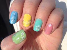 apr 2014 - easter/spring pastel nails