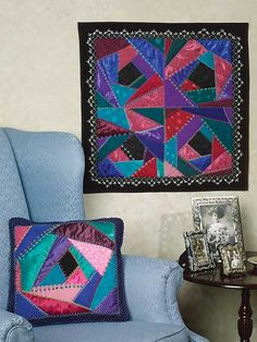 Quilting - Crazy-Quilted Wall Quilt