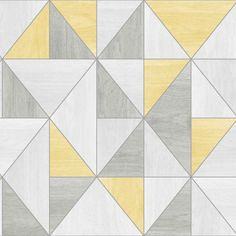 Apex wood grain yellow wallpaper FD2223. From the fabulous Apex collection is this modern wood grain effect wallpaper in yellow and grey with a silver metallic outline.