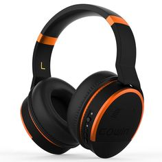 COWIN [Upgraded] Active Noise Cancelling Headphone Bluetooth Headphones with Microphone Hi-Fi Deep Bass Wireless Headphones Over Ear 20 Hour Playtime for Travel/Work/TV/Computer/Phone - Orange Headphones With Microphone, Best Headphones, Headphone With Mic, Over Ear Headphones, Noise Cancelling Headphones, Bluetooth Headphones, Workout Headphones, Bass, Gadgets