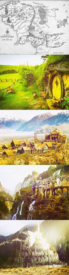 some of the lands in Middle Earth