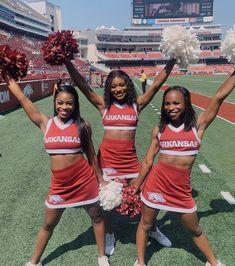 Black Cheerleaders, University Of Arkansas, Cheerleading, Cheer Skirts, Style, Fashion, Pictures, Swag, Moda