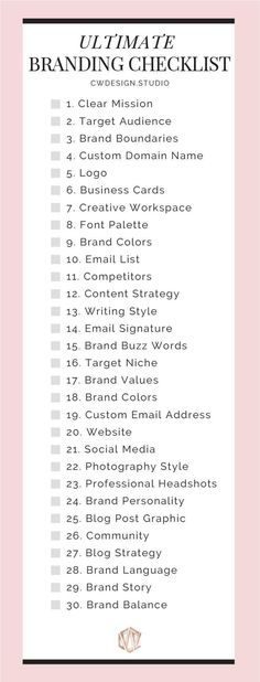 The Ultimate Branding Checklist The Ultimate Branding Checklist For Startup Busi. - The Ultimate Branding Checklist The Ultimate Branding Checklist For Startup Businesses & Entreprene - Creative Marketing, Creative Advertising, Small Business Marketing, Creative Business, Content Marketing, Social Media Marketing, Affiliate Marketing, Online Marketing, Marketing Strategies