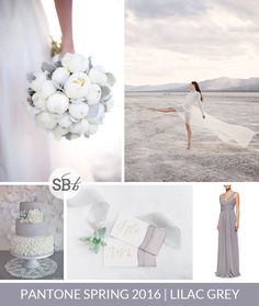 #Pantone Spring 2016 Colour Palettes: #LilacGrey | SouthBound Bride | Full credits & links: http://www.southboundbride.com/pantone-spring-2016-colour-palettes-part-2