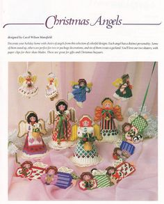 Christmas Angels Plastic Canvas Patterns