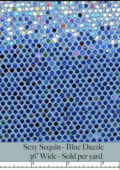 blue Sequin Wallcovering