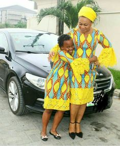 African Mother and child Fashion, You aloof accept to bedrock it with your babe the best way you can. Let your accouchement apprentice from you how to be African Dresses For Kids, African Children, African Print Dresses, African Fashion Dresses, African Attire, African Wear, African Women, Ankara Fashion, African Prints