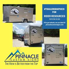 #Graphics for the Rider Resources Trailer! If its got #wheels, we can do it! #betterfromthetop #vehiclegraphics