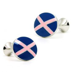 Blue and Pink Color Button Cufflinks