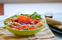 Asian Vegetarian Soba Noodle Salad with Spicy Chili Garlic Dressing | chefdehome.com