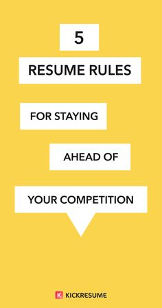 5 resume rules for staying ahead of your competition httpsblog - Resume Rules