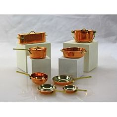 From furniture to glassware, from brass to glass, we are your on-line source for Artisan made dollhouse miniatures. Dollhouses, Cookware, Dollhouse Miniatures, Candle Holders, Scale, Artisan, Copper, Candles, Dolls