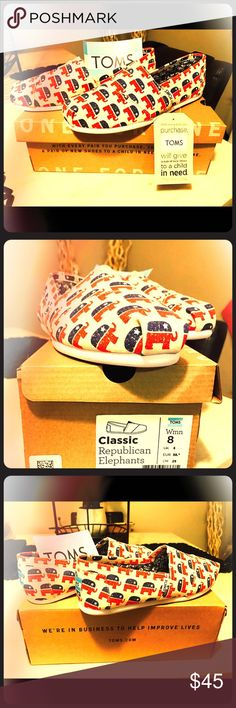TOMS Classic Republican Elephant Brand new w box TOMS Shoes Flats & Loafers