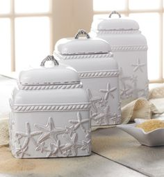 Starfish canister set.