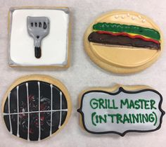 Grill Master Cookies by @cookiesbykatewi #grilling #summer #picnic