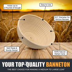 Chefast Banneton proofing basket ,The perpect bread proofing basket which got all the tools the professionals use to create their oh-so-perfect artisan boules. Cane Baskets, Golden Crust, Hold Ups, Artisan Bread, Rattan, Cocoa, Things To Come, Kitchen Tools, Kitchen Gadgets