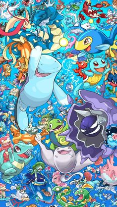 Water type pokemon - Pokemon iPhone wallpapers @mobile9