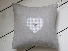 handmade linen applique heart cushion by ticketty boo | notonthehighstreet.com