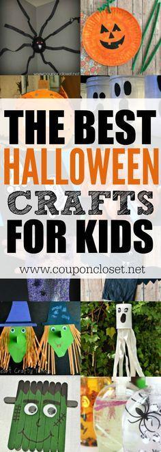 20+ Super Fun Halloween Crafts for Kids to Make Paper pumpkin, DIY - easy homemade halloween decorations for kids