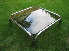 1980s vintage/retro smokey glass top 'Dynasty' style coffee table | eBay currently £9.00