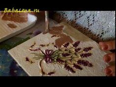 Объемный декупаж керамической плитки - YouTube