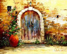 old-door.jpg [Old Door (2007) - Original Oil on Canvas - SOLD]
