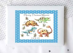 Baby boy gift personalised baby recrd book memory book christening book personalised baby book baby boy gift baby record book baptism bok baby shower dinosaur negle Choice Image